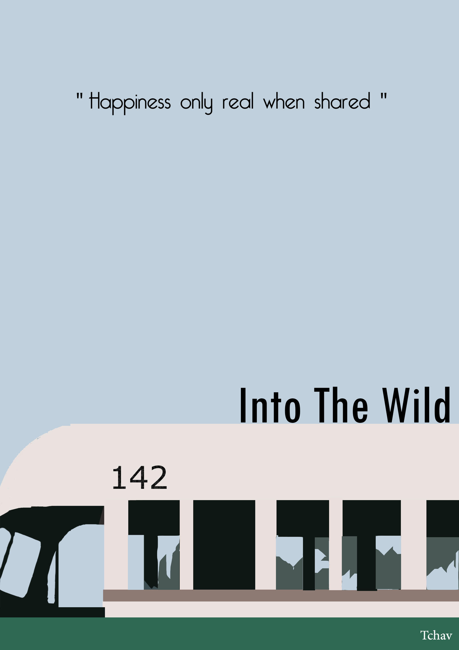 Into The Wild Minimalist Poster by Tchav on DeviantArt