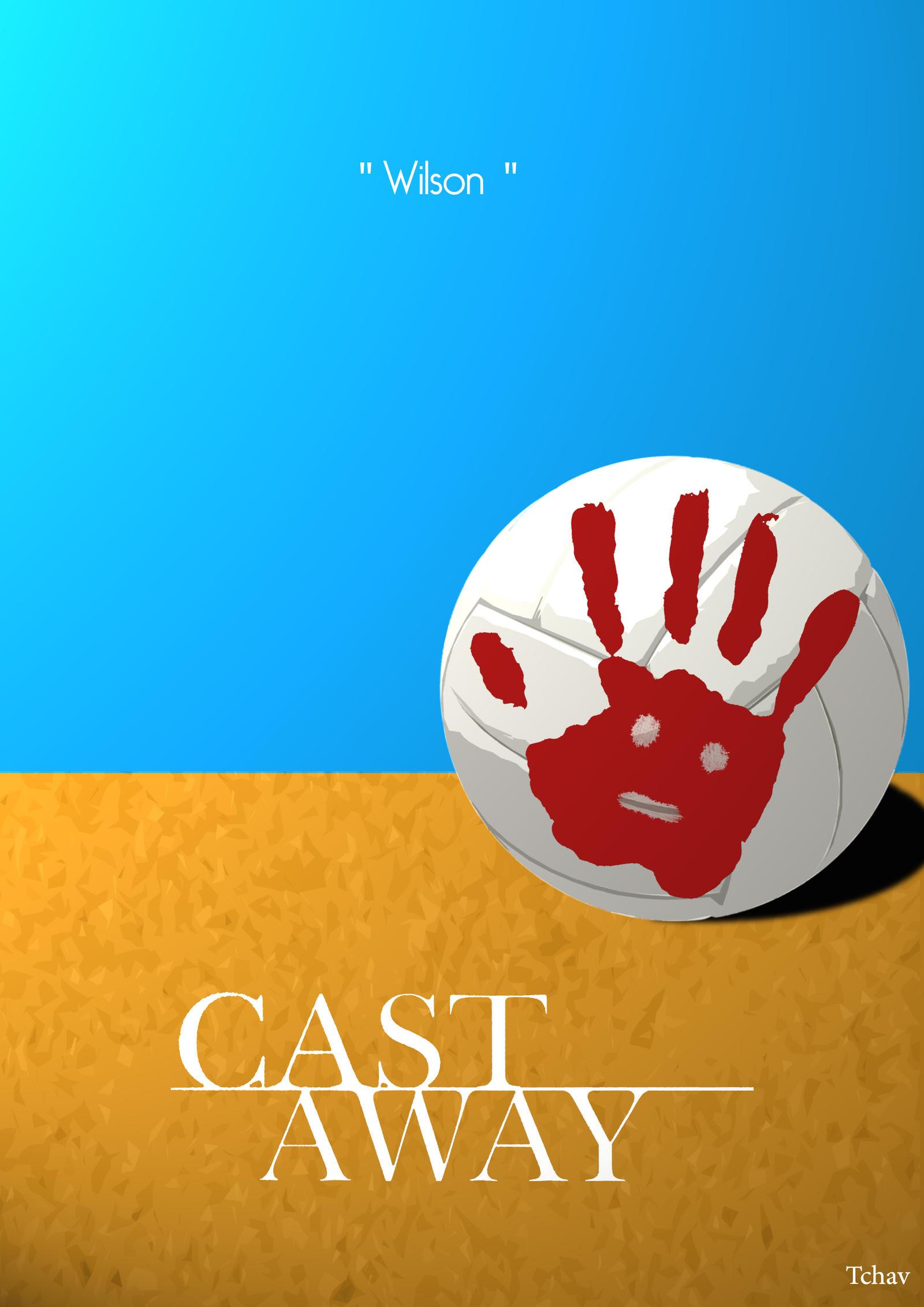 Cast away minimalist poster by tchav on deviantart for Art post minimalisme