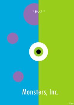 Monsters, Inc. Minimalist Poster.