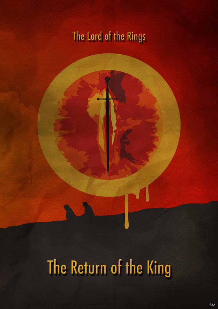 Lord of the Rings 3 - Minimalist Poster by Tchav