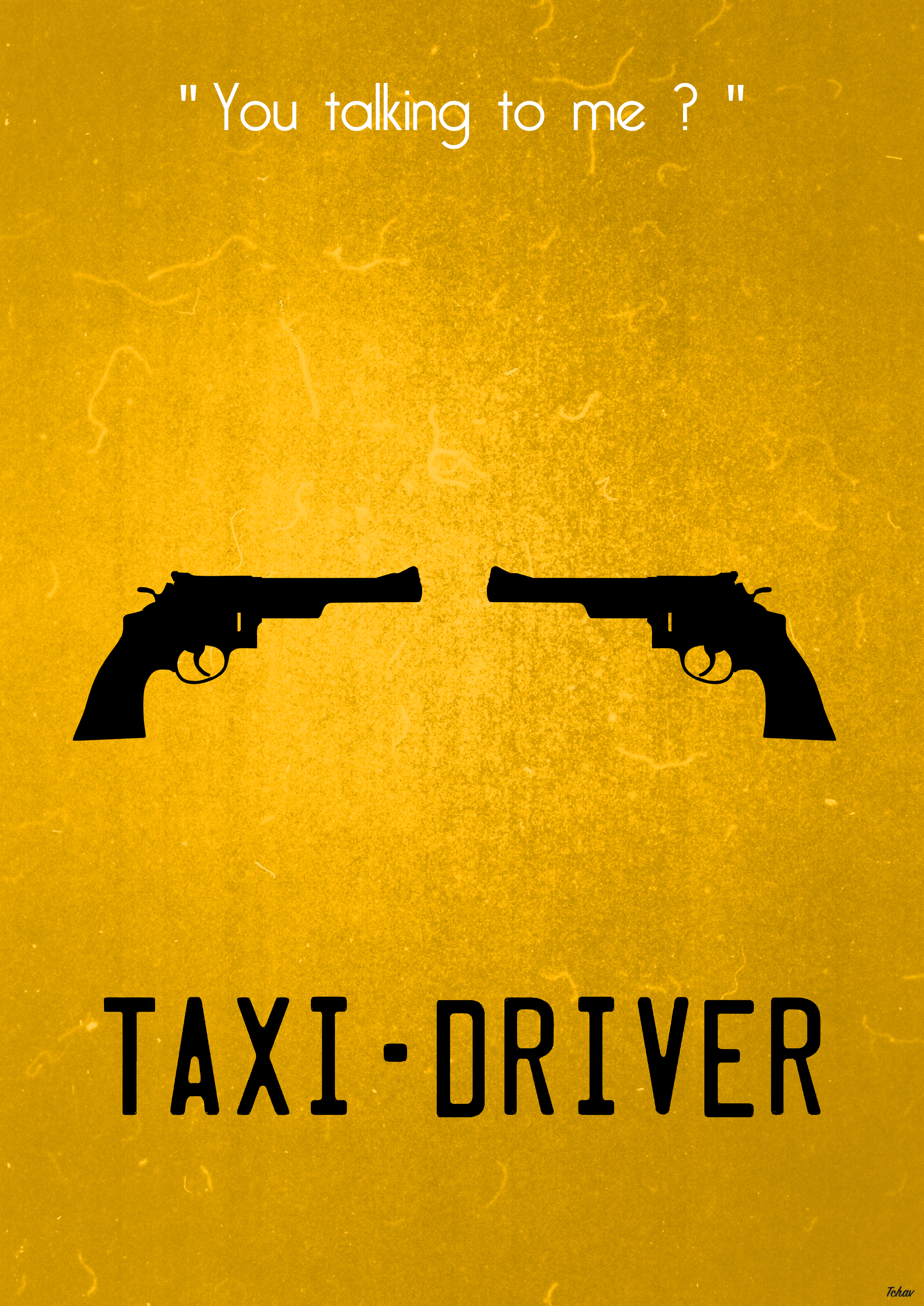 Taxi Driver (update) Minimalist Poster by Tchav on DeviantArt