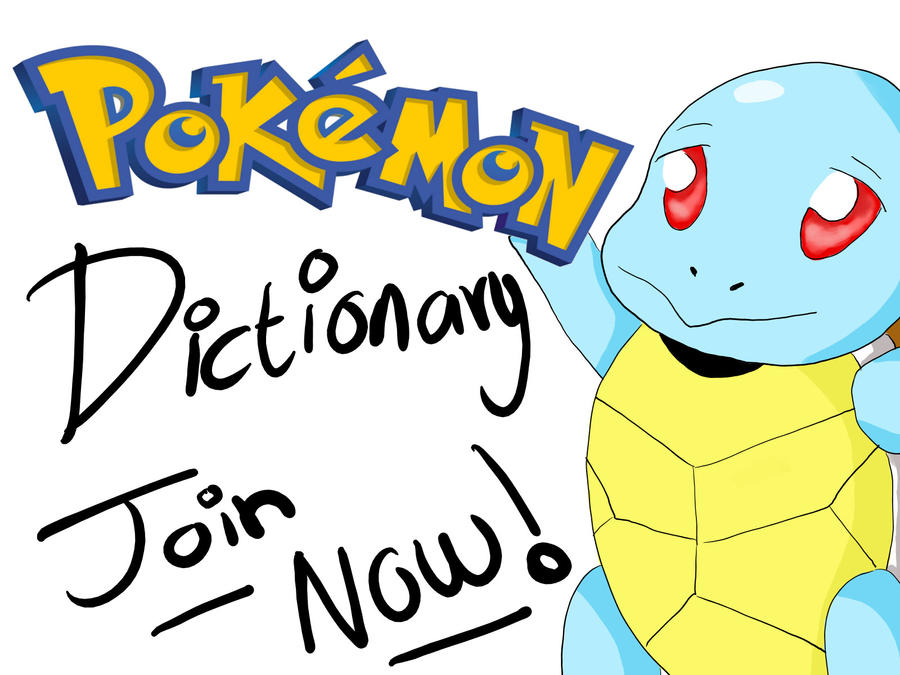Join Pokemon Dictionary by RikkuReno