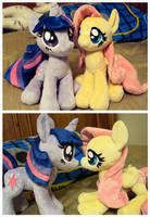 New Fluttershy and Twilight Plushies by ButtercupBabyPPG