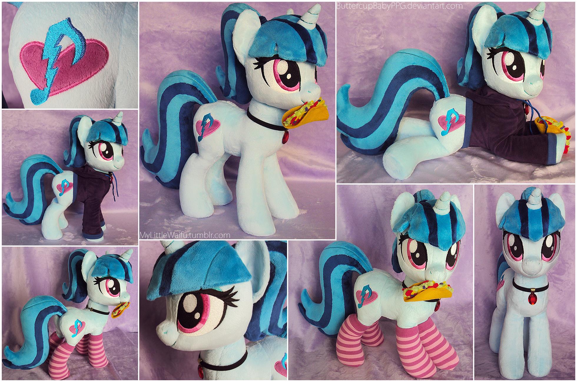 Sonata Pony Plushie with Taco, Socks, and Hoodie