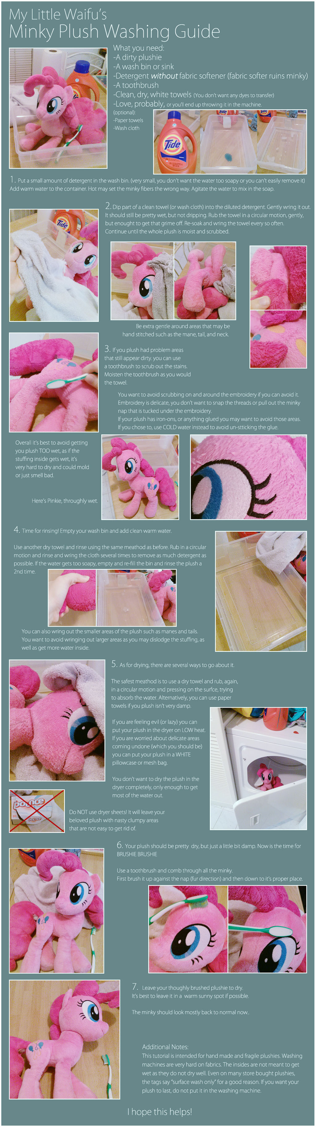 Minky Plush Washing Guide by ButtercupBabyPPG