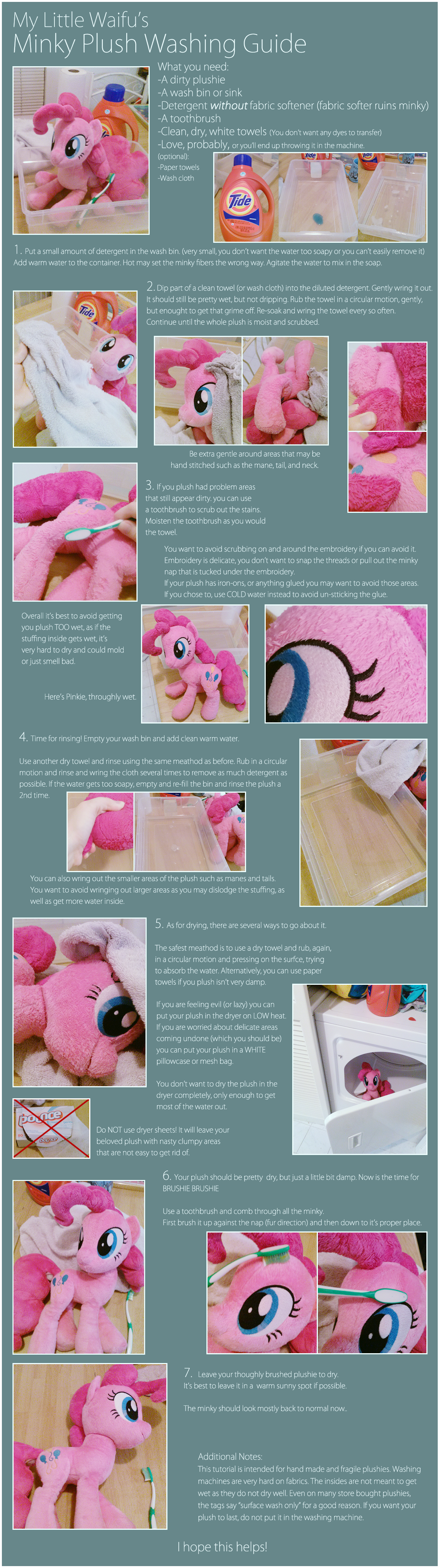 Minky Plush Washing Guide by ButtercupBabyPPG