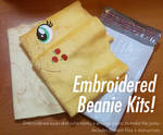 Embroidered DIY Pony Beanie Plush Kits