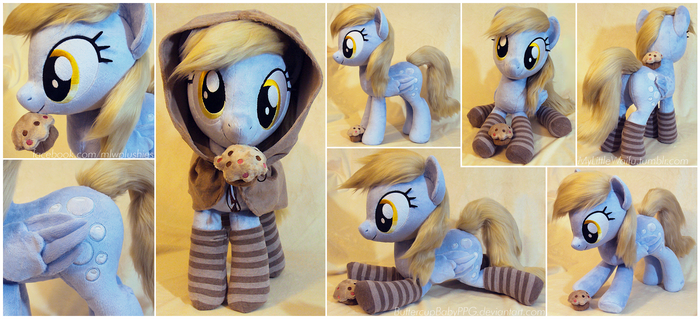 Derpy with Faux Fur Hair, Socks and Hood