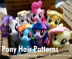 Pony Hair Mane+Tails Pattern 7 Pack - on Etsy! by ButtercupBabyPPG