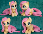 Laying Fluttershy Plush