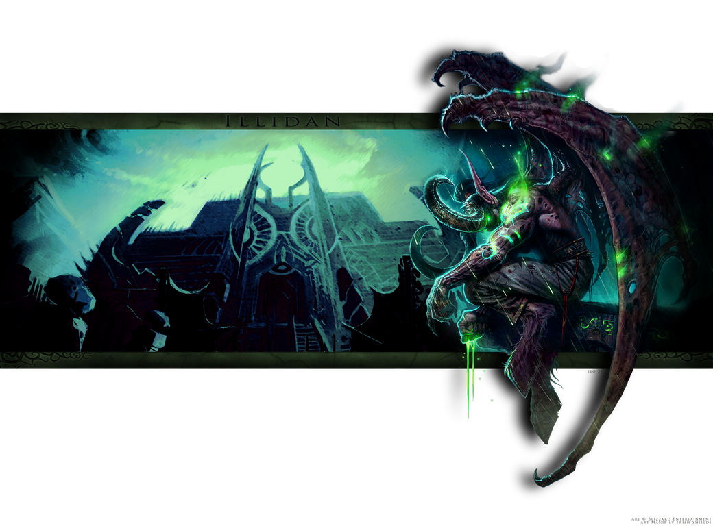 Illidan Background Random Art Manip by MuddyIXI