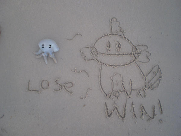 mudkip wins in teh sand by mudkip-fanclub