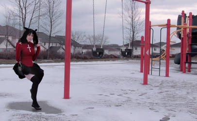 Snow Day : Rin Tohsaka by Lossien