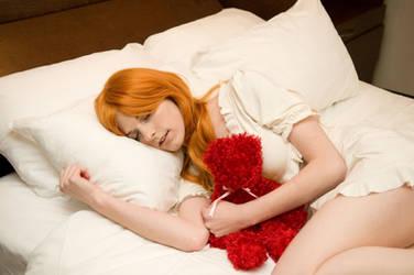 Sleeping : Asuka : Evangelion by Lossien