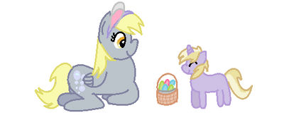 Dinky's easter by ponypal918