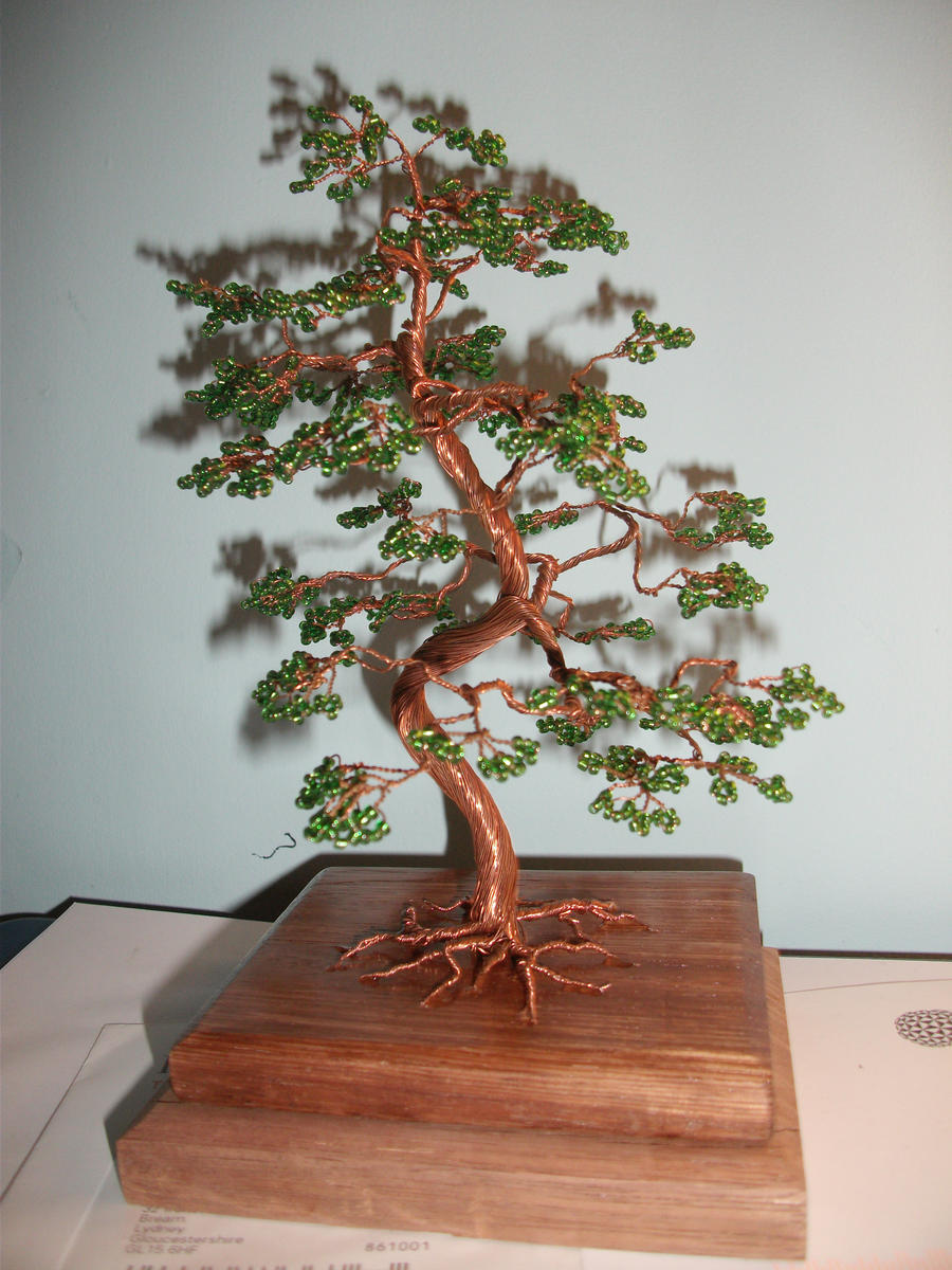 Wire tree by norianum on deviantart for How to make a wire sculpture