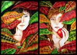 Adan y Eva by elia-illustration