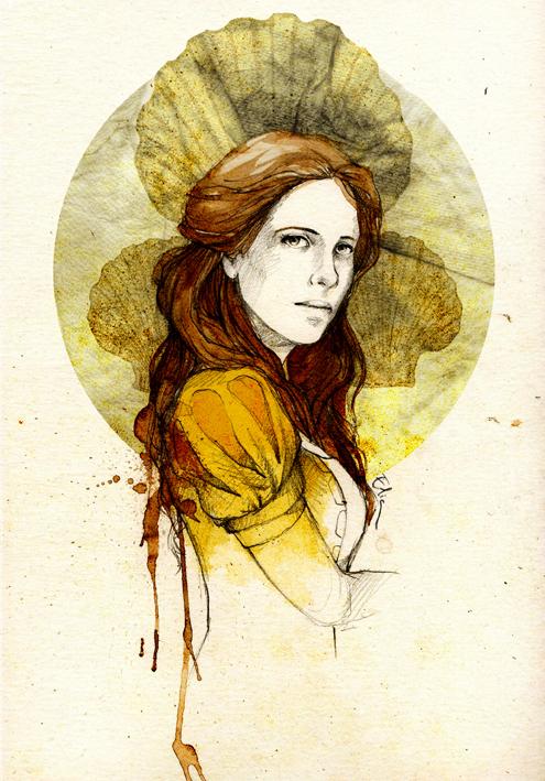 Jeyne Westerling by elia-illustration
