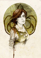 Asha Greyjoy by elia-illustration