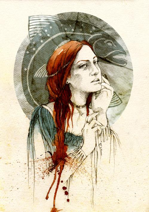 Lysa Tully by elia-illustration