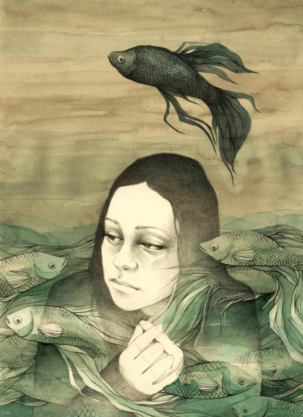 Black fish by elia-illustration