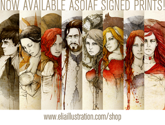 ASOIAF PRINTS by elia-illustration