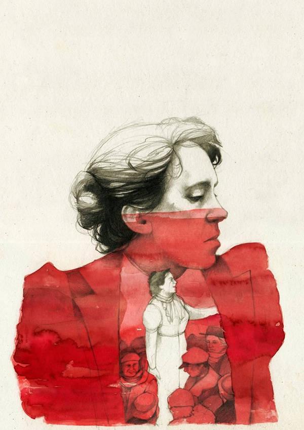 Emma Goldman by elia-illustration
