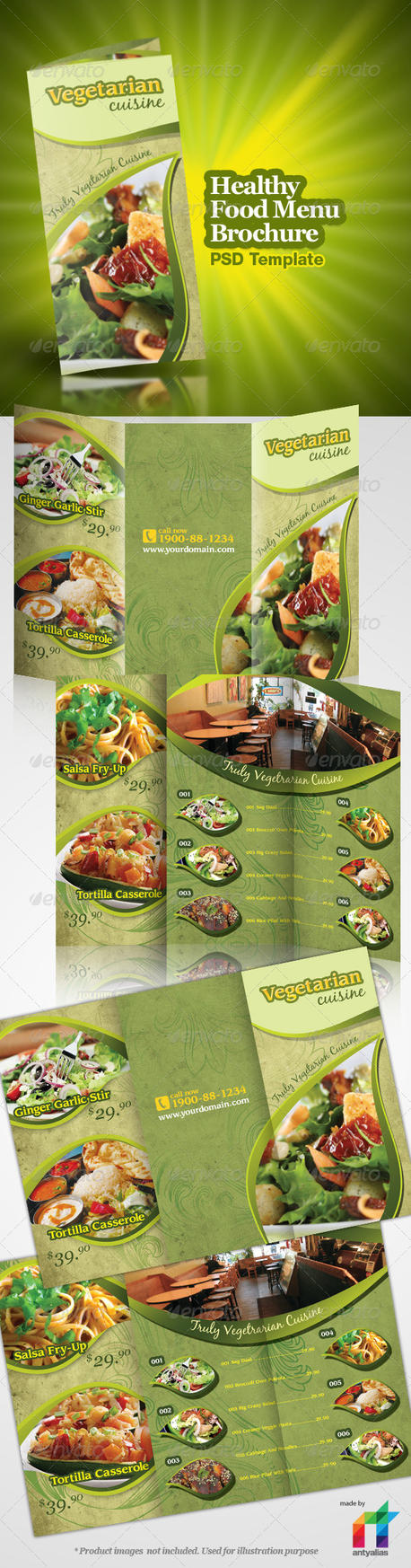 Healthy food menu brochure by antyalias on deviantart for Artistic cuisine menu