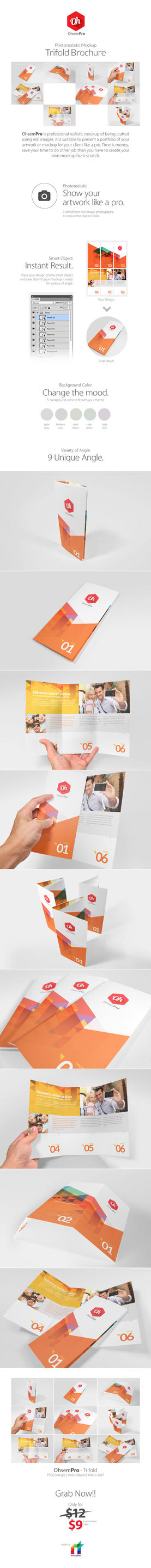OhsemPro - Trifold Mockup by antyalias