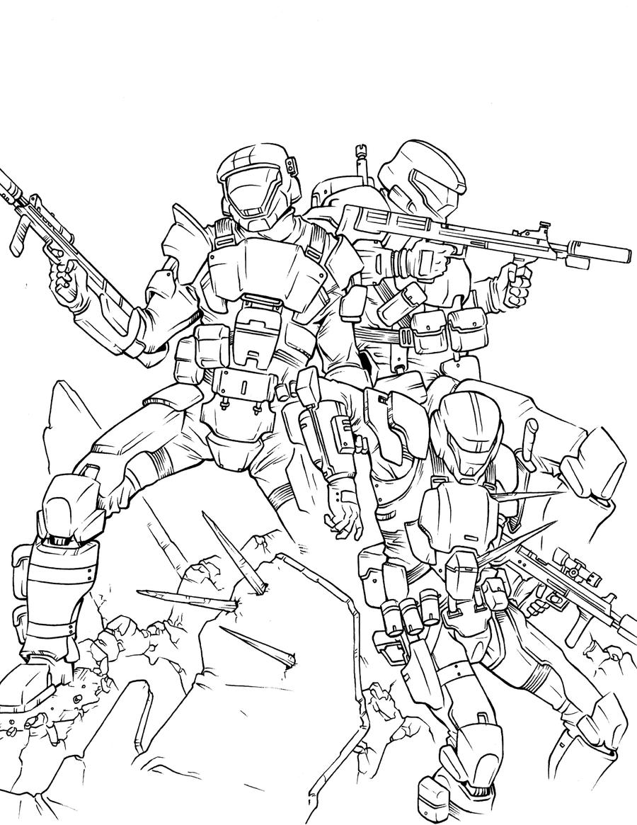 coloring pages halo 3 - photo #11