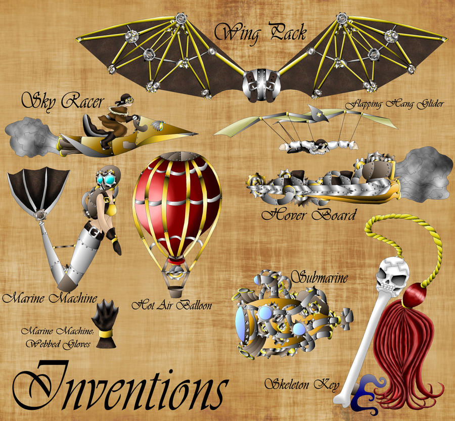 Steampunk Inventions by
