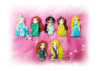Cute Disney Princesses Necklace Pendants by SentimentalDolliez