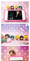 Chibi Sailor Moon Cellphone Plugs by SentimentalDolliez
