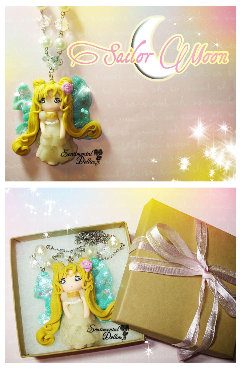 Princess Serena Sailor Moon Necklace by SentimentalDolliez