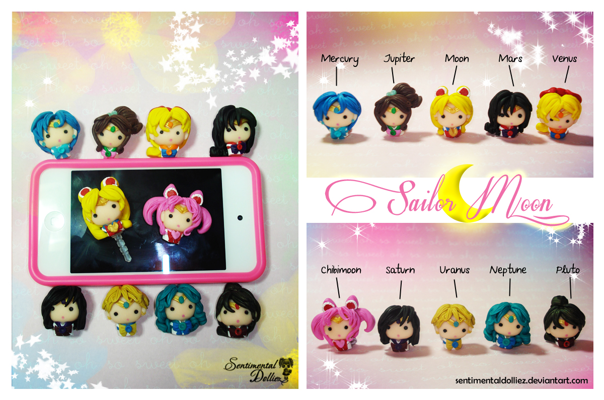 Sailor Scouts Gadgets Dust Plugs by SentimentalDolliez