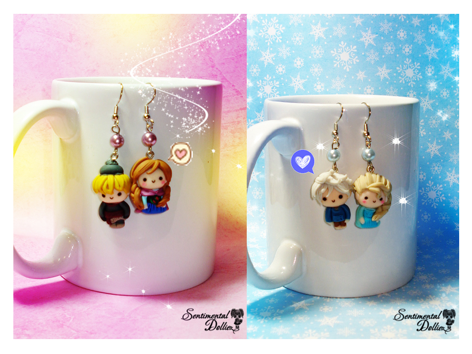 Frozen Couples Earrings by SentimentalDolliez