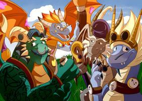 Stone Hill Dragons [Spyro RT] by DuskyAnimations