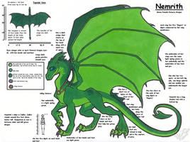 Nemrith Ref Sheet by StangWolf