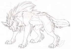 Feral Nashoba Sketch by StangWolf