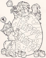 Happy Easter Ink by StangWolf