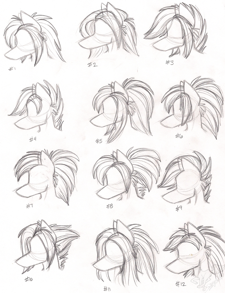 Line Drawing Hair : Female anthro wolf hairstyles by stangwolf on deviantart