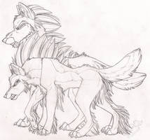 Double Threat Sketch by StangWolf