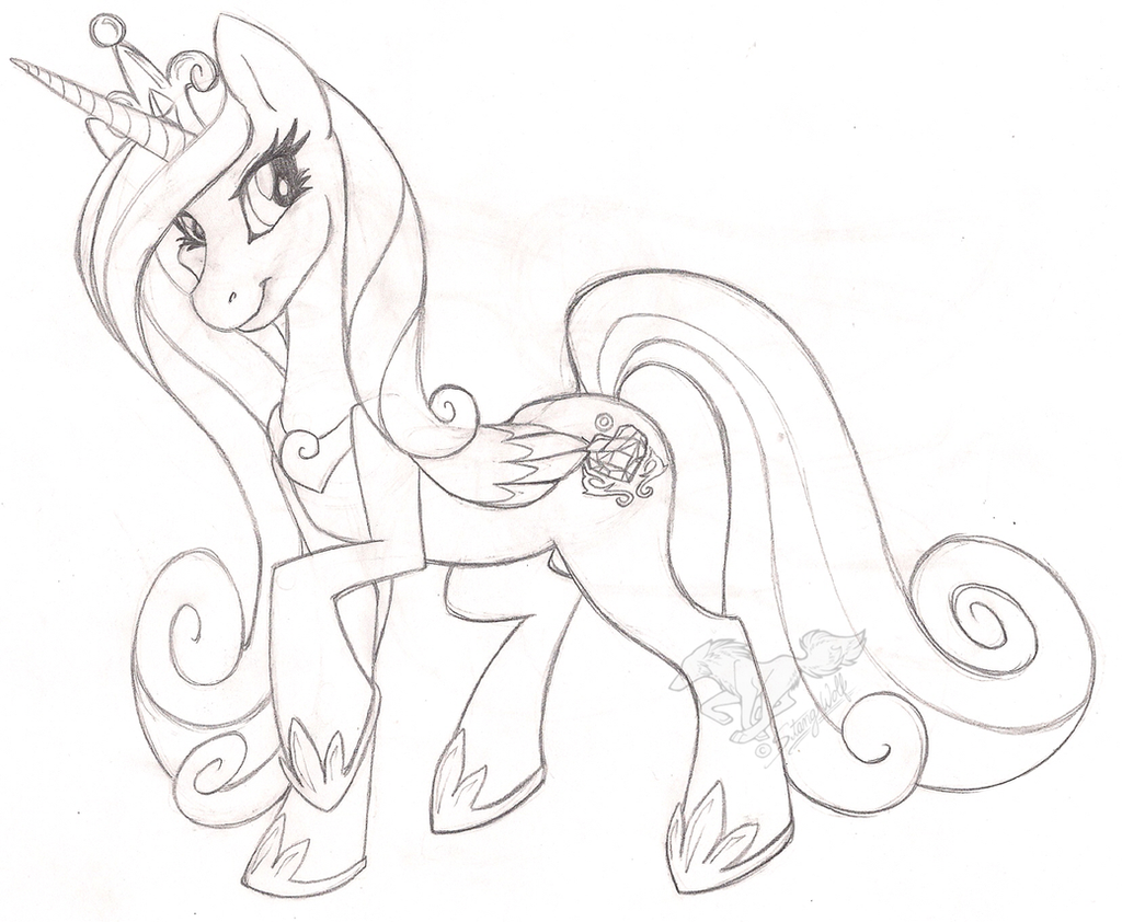 princess cadence sketch by stangwolf on deviantart