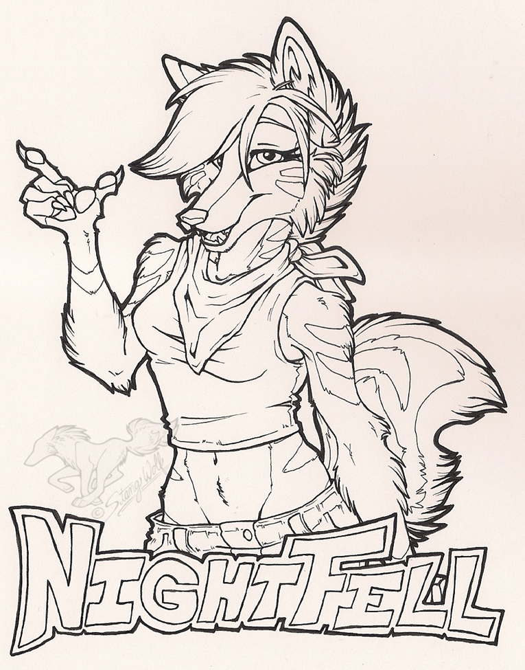 NightFell Badge Ink by StangWolf