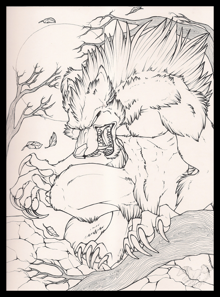White Were 2015 Ink by StangWolf