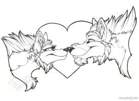 Tala and Nash Valentine's Ink by StangWolf