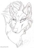 Headshot: Tala Sketch by StangWolf