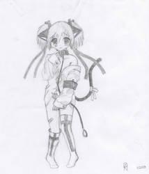 Neko Girl by Uzti