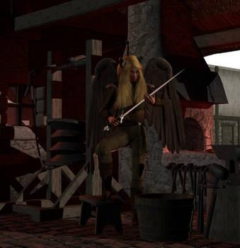 Fiana Sturmfalke as Blacksmith by Sheena-Tiger