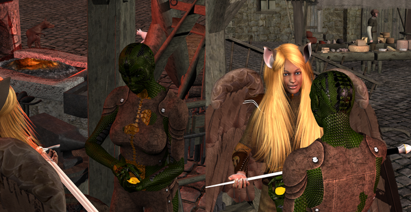 Fiana and Liv'Zle 2 - Details by Sheena-Tiger